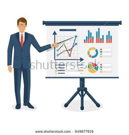 Financial Consultant Concept Consultant Near Blackboard Stock ...