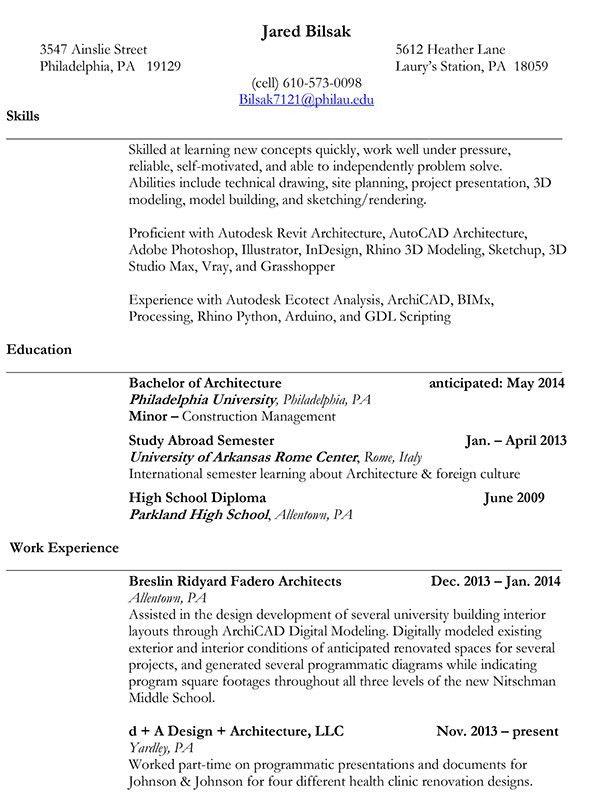 The Undergraduate Collection - Preview & Resume on PhilaU Portfolios