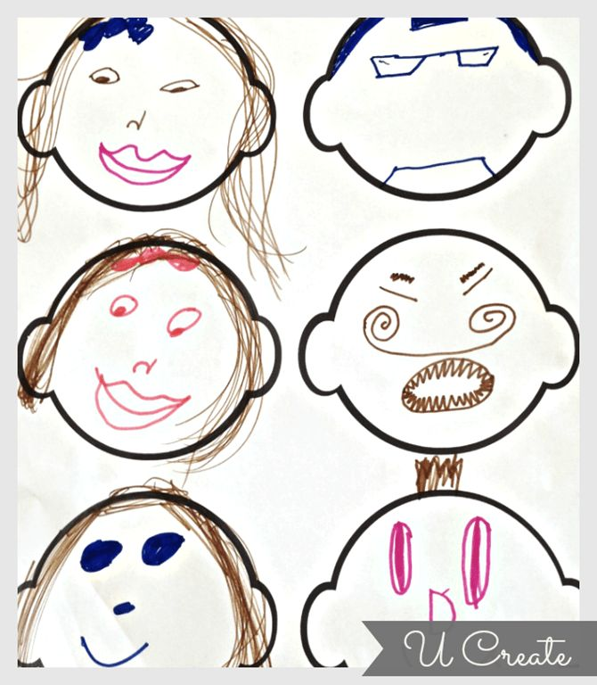 Free Printable for Kids – Blank Faces - U Create