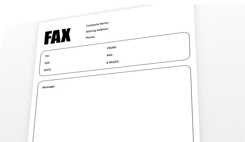 Fax Cover Sheet Template for PowerPoint