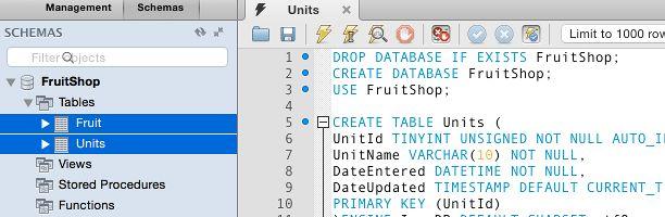 Create a Table in MySQL