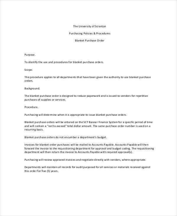 Purchase Order Template - 9+ Free Word, Excel, PDF Documents ...