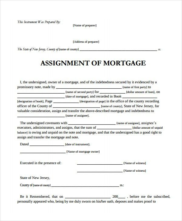 Sample Assignment of Mortgage Template - 9+ Free Documents ...