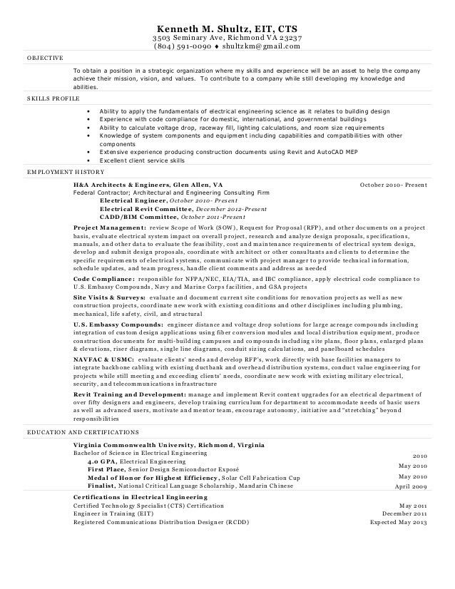 electrical engineer resume sample electrical engineer resume