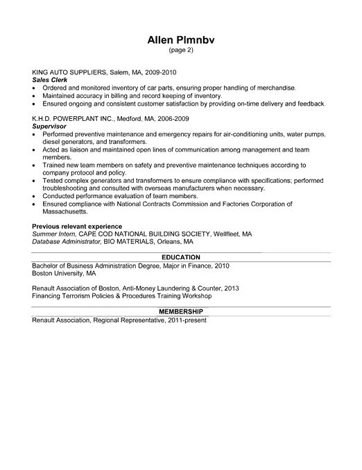 Resume Example for a Treasury Office Position - Susan Ireland Resumes