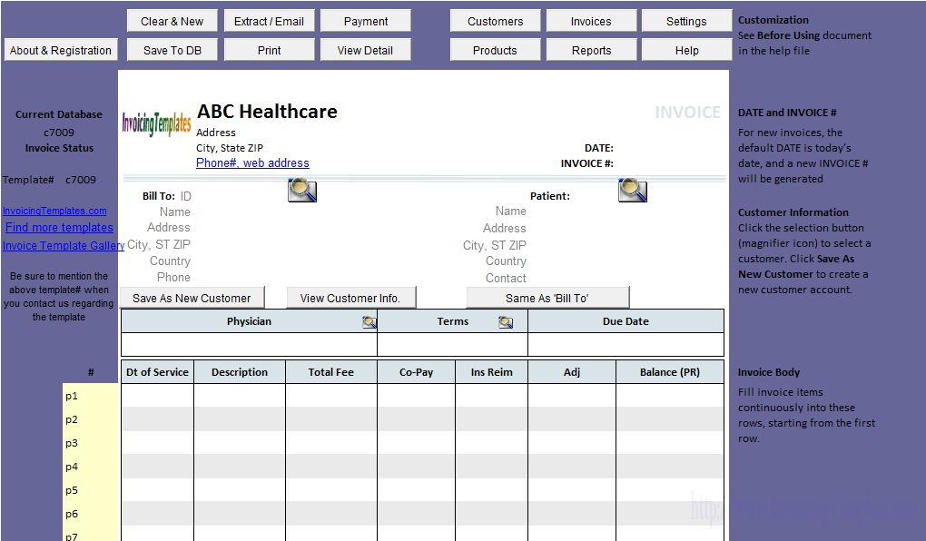 Medical Invoice Template (1)