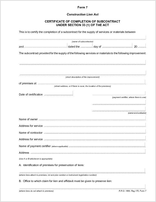 9 Best Images of Certificate Of Completion Form Sample ...