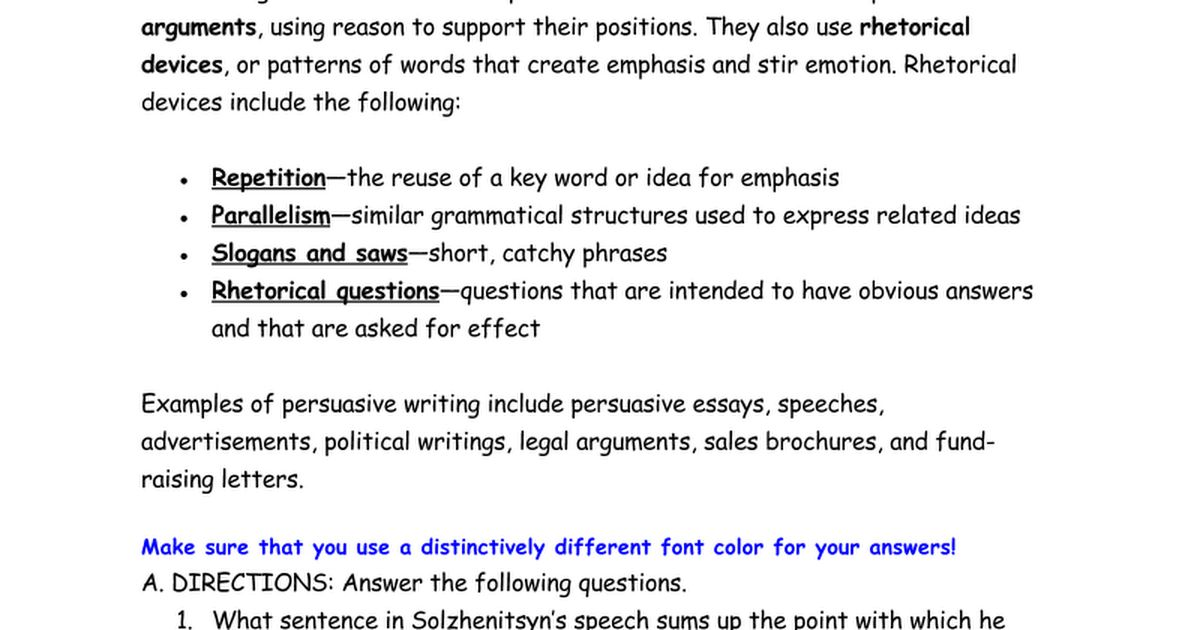 """from """"Nobel Lecture"""" - Literary Analysis Activity - Google Docs"""