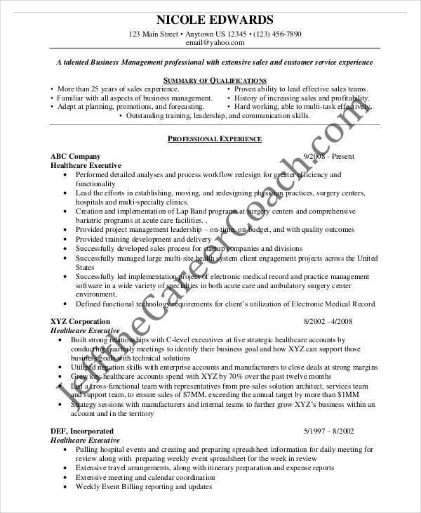Resume Examples For Executives. Senior Executive Resume Examples ...