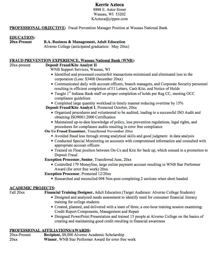 manager professional objective resume sample - http ...