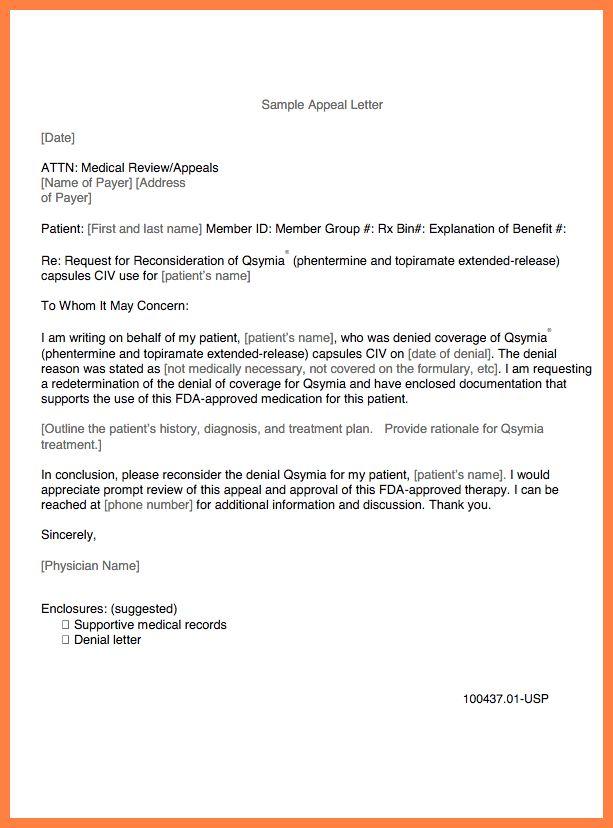 9+ medical appeal letter example   Appeal Letter 2017
