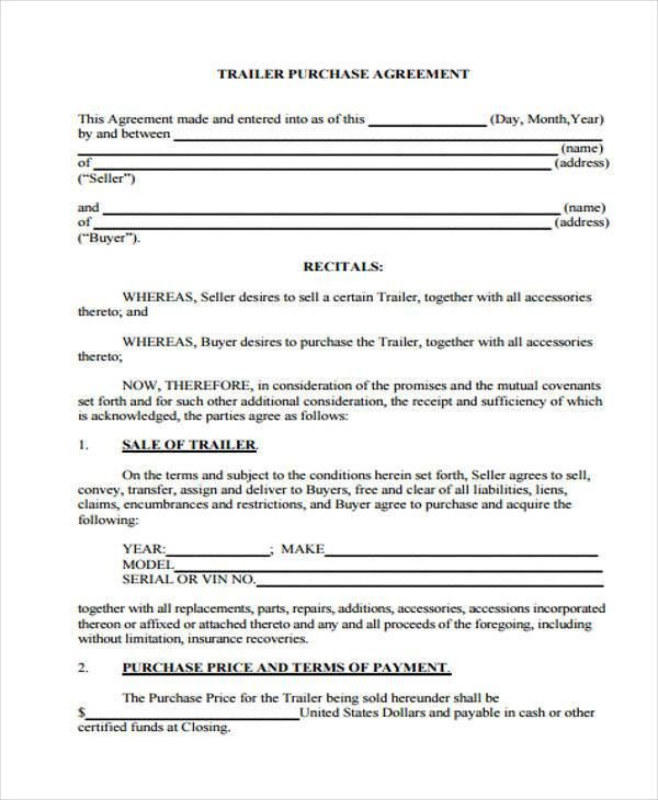 24+ Purchase Agreement Form in PDF