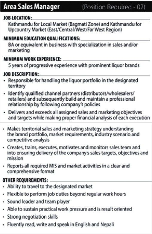 Shanker Group - Area Sales Manager : Jobs in Nepal