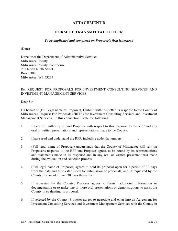 Request for Proposal To Provide Investment Consulting ...