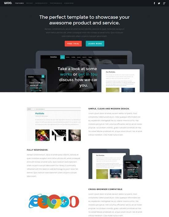 70+ Best One Page Website Templates Free & Premium - freshDesignweb