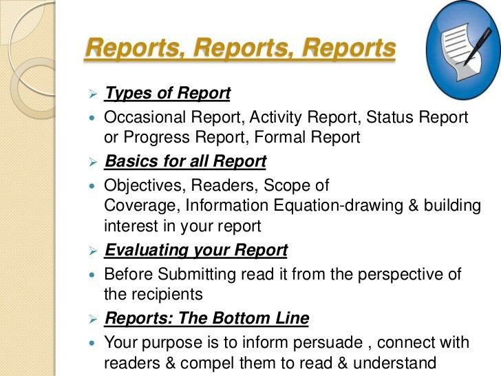 Writing business reports
