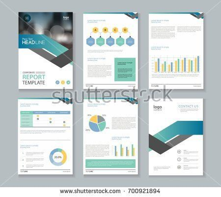 Page Company Profile Annual Report Layout Stock Vector 444029605 ...