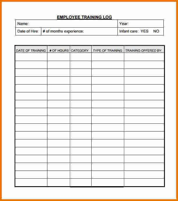 Training Log Template.Employee Training Log.jpg | Scope Of Work ...