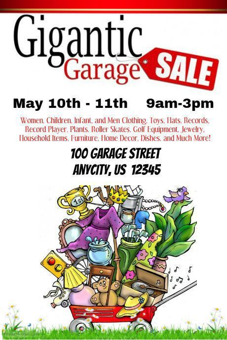 27 best Garage Sale Posters images on Pinterest | Poster prints ...