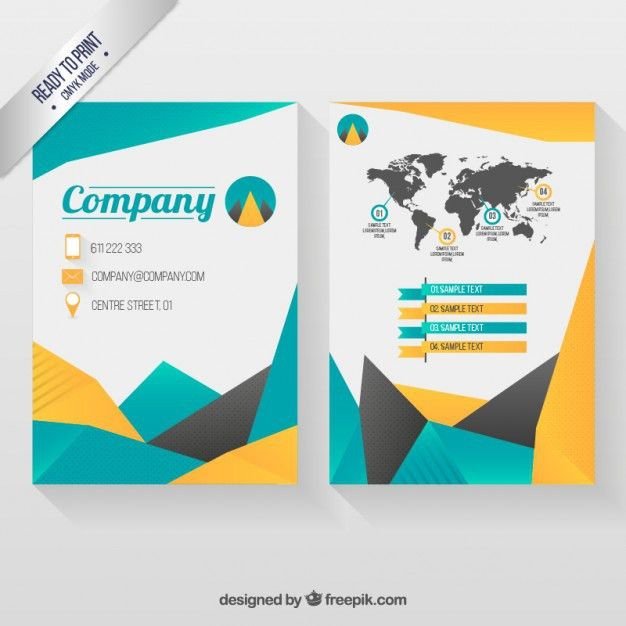 Infographic Company Flyer Vector | Free Download
