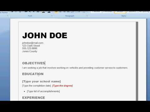 how to prepare a professional resume resume examples first job com ...