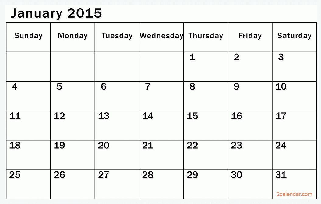 2015 Calendar Template February - Contegri.com