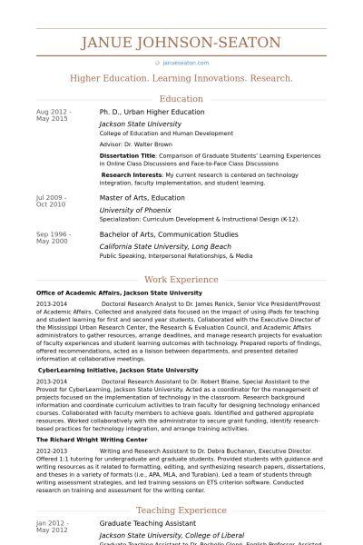Graduate Teaching Assistant Resume samples - VisualCV resume ...