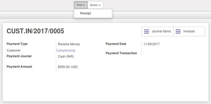 Account Payment Receipt | Odoo Apps