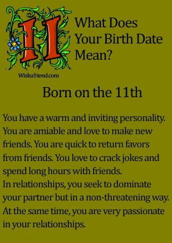 What Does Your Birth Date Mean? - Born on the 11th