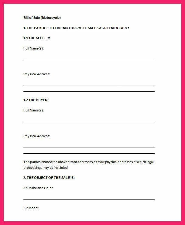 bill of sale template word | bio letter format