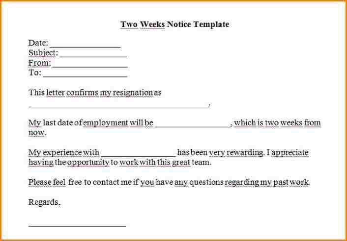 6+ 2 week notice example   wedding spreadsheet