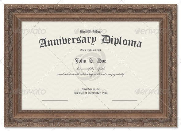 Anniversary Diploma Certificate by bestwebsoft | GraphicRiver