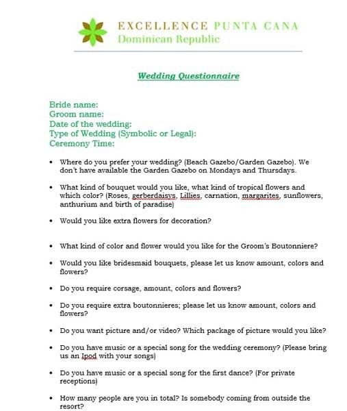 Wedding event planning questionnaire – Wedding photo blog memories