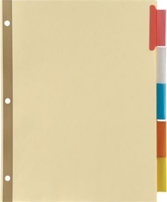 Avery® Gold Reinforced WorkSaver® Big Tab™ Insertable Dividers ...