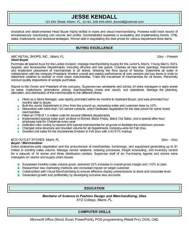 buyer resume samples warehouse skills resume inventory manager ...
