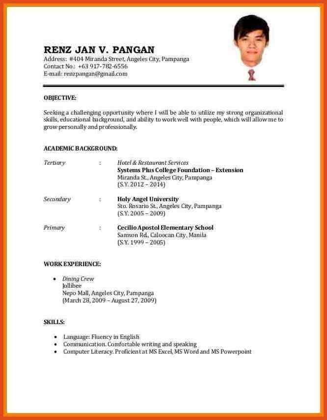 Jobs Resume Format. Resume Format Usa Examples Of Resumes Resume ...