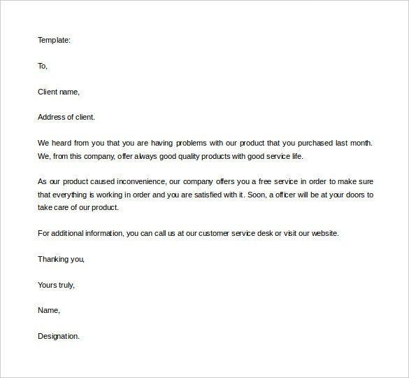 Format Of Sales Letter 9 Sales Letter Templates Free Sample – Sale Letter