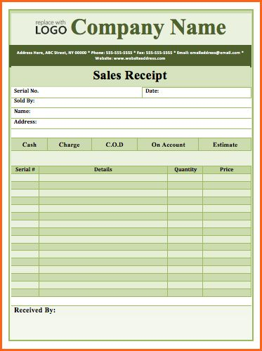 word sales receipt template - Budget Template Letter
