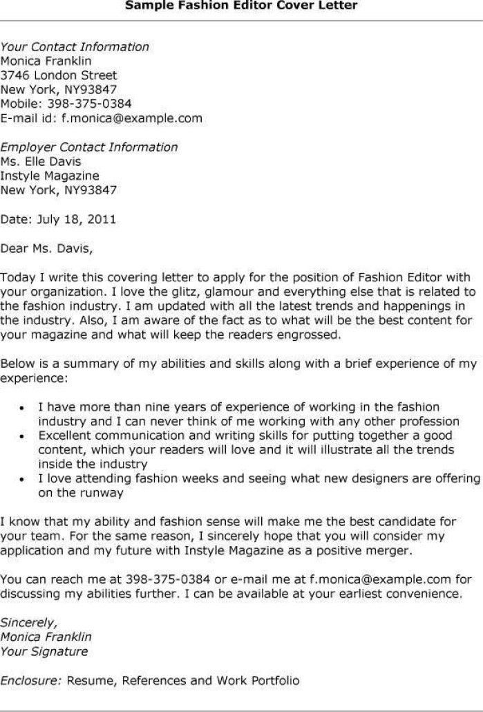 cover letter for editor