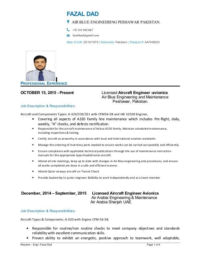Fazal Dad Resume