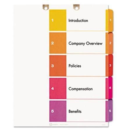 Buy Avery Ready Index Table Of Contents Dividers - Printed1-5 - 5 ...