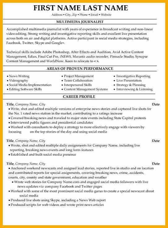 13+ journalism resume | bursary cover letter
