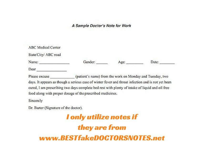 Observarh Doctors Notes, Excuses and Templates