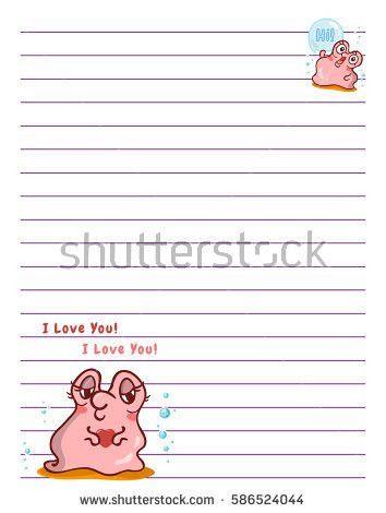 Lined Sheet Paper Little Flat Bird Stock Vector 367174601 ...