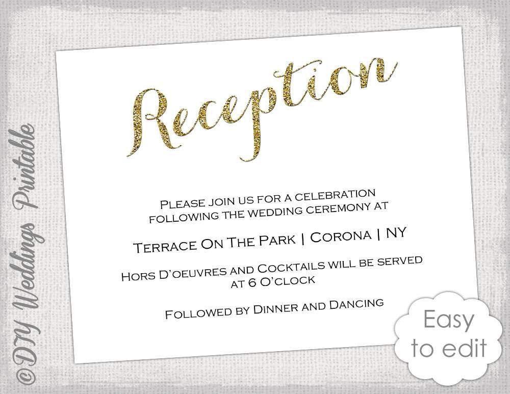 Wedding Reception Invitation Wording | Wedding Invitation Templates