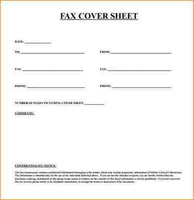 Faxing Cover Letter