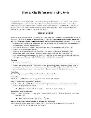 How to Format and Cite an Appendix in APA Style ... - Writing Center