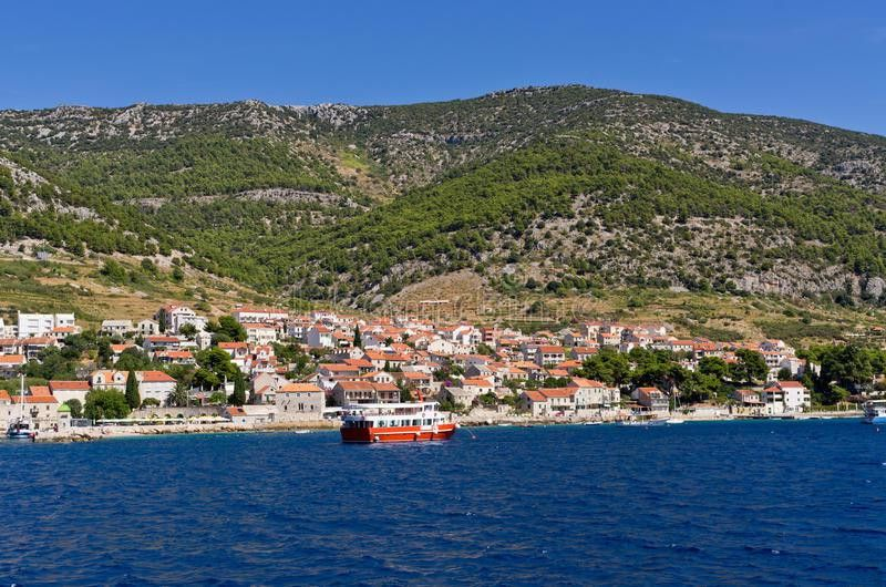Bol Town On Brac Island, Croatia Royalty Free Stock Photo - Image ...