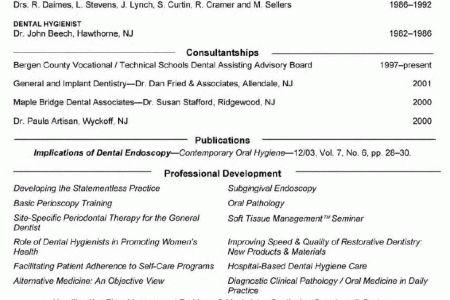 Registered Dental Hygienist Resume Sample - Reentrycorps