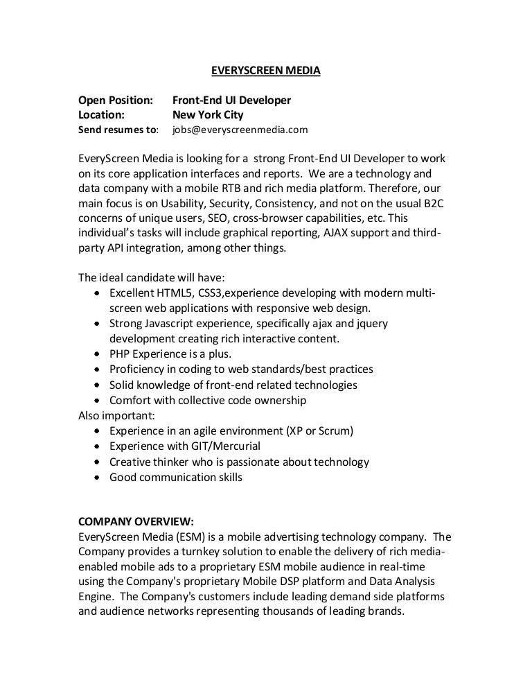 Front End Developer Resume. 3 Vishvanath Pawar - Resume- Front-End ...